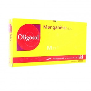 Manganese oligosol solution buvable 2ml 14 ampoules